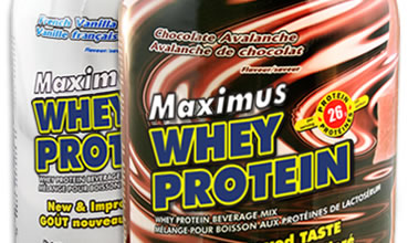 Maximus whey protein package